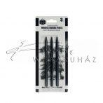 MonaLisa rajzszén préselt, 3 darab 14,5 cm, soft-hard-medium keménység