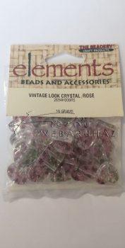 Elements - Rózsa mintás akril gyöngy