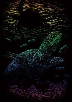 Kreatív hobby - Szivárványos - Teknős
