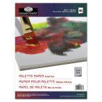 Szürke papír paletta tömb, eldobható, 23x30,5 cm, 90 grammos, 40 db-os