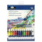 Akril festőkészlet 23x30,5cm - 15 részes készlet