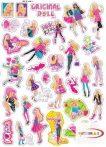 Kicsi karton Barbie matricák