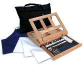 Kreatív hobby - Óriás akril festőkészlet asztali festőállvánnyal, hordtáskával - Royal GRAND Acryl