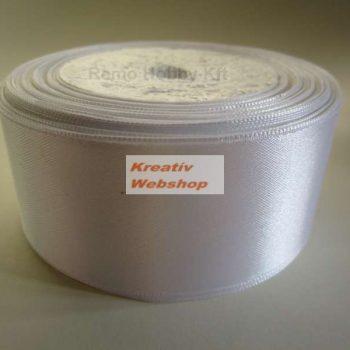 Szatén szalag, színes vagy fehér, 40 mm széles 10 m - Díszcsomagoláshoz