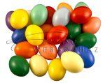Műanyag tojás, vegyes színes, 6cm - Csomagban (25db - színenként 2-3 db a csomagban)
