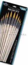Ecsetkészlet - 12 db-os hegyes kerek - Royal Golden Taklon művészecsetek