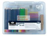 Kreatív hobby - Rajzkészlet  - Divatos áttetsző táskában - Royal kezdő ceruza készlet
