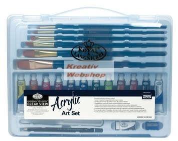 Kreatív hobby - Akrilfestő készlet  - Divatos áttetsző táskában