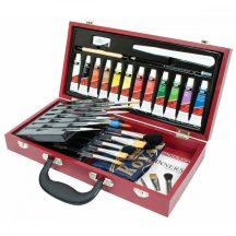 Óriás akvarellfestő készlet haladóknak, fadobozos - Royal Aqualon Brush 32 - 36x19x7 cm