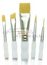 Kreatív hobby - Ecsetkészlet - Gold taklon - Soft Grip - 5db