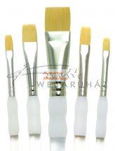Kreatív hobby - Ecsetkészlet - Gold taklon, lapos - Soft Grip - 5db