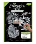 Kreatív hobby: Képkarcoló készlet 3 az 1-ben - Ezüst - Tengeri világ készlet