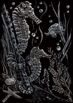Kreatív hobby - Ezüst - Tengeri csikók