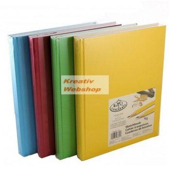 Vázlattömb Display készlet - Royal SketchBook A4 - élénk színes keménykötéses vázlatkönyv - 8 db (piros, sárga, kék, zöld 2-2 db)