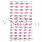 Strasszkő rózsaszín 3mm öntapadós 460db