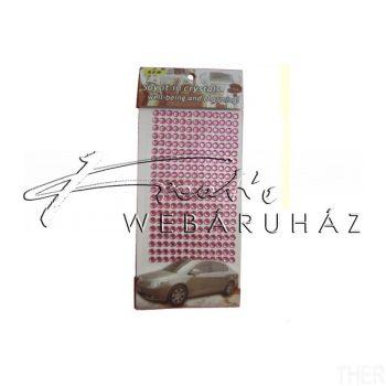 Strasszkő rózsaszín  7mm öntapadós