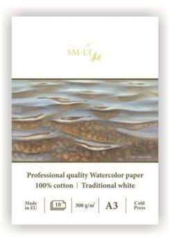 Akvarelltömb - SMLT Art Professional Watercolor Torchon 250gr, 10 lapos művésztömb A3 méretű