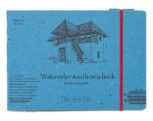 Akvarell festőtömb - SMLT Watercolor Authenticbook 280gr, 12 lapos, 17,6x24,5cm