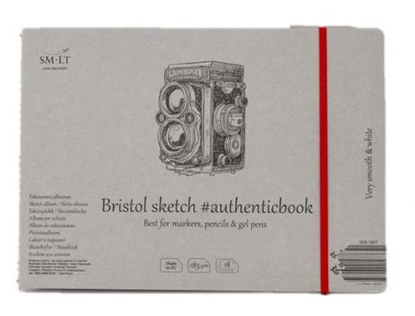 Vázlattömb - SMLT Sketch authenticbook - Bristol, 185gr, 18 lapos, 17,6x24,5cm