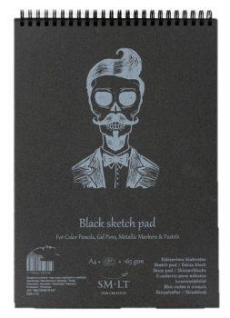 Pasztelltömb - SMLT Black Sketch Pad 165gr - 30 lapos A4