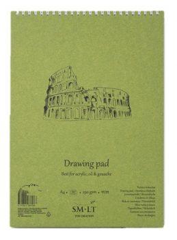 Akriltömb - SMLT Drawing Pad - Fehér, 290gr, 20 lapos A4