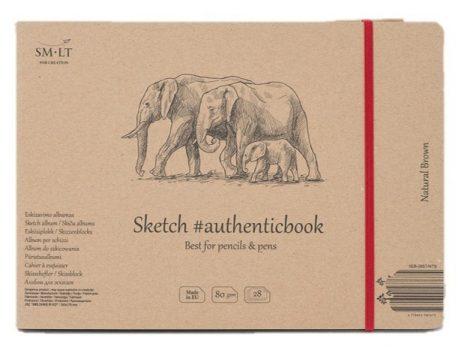 Vázlattömb - SMLT Sketch authenticbook - Natúr, 28 lapos, 17,6x24,5cm