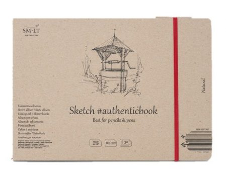 Vázlattömb - SMLT Sketch authenticbook - Natúr fehér, 100gr, 32 lapos, 17,6x24,5cm