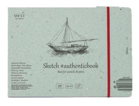 Vázlattömb - SMLT Sketch authenticbook - Fehér, 90gr, 32 lapos, 17,6x24,5cm