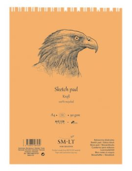 Vázlattömb - SMLT Sketch Pad - Kraft 90gr, 60 lapos A4