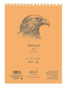Vázlattömb - SMLT Sketch Pad - Kraft 90gr, 60 lapos A5