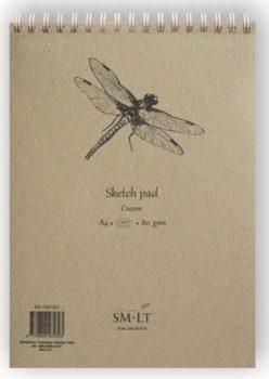 Vázlattömb - SMLT Sketch Pad - Krémszínű, 80gr, 70 lapos A5