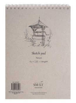 Vázlattömb - SMLT Sketch Pad - Natúr, 100 gr 100 lapos A4