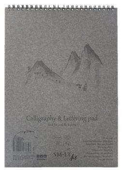 Kalligráfiatömb - SMLT Calligraphy & Lettering Pad, 100g, 50 lapos A5