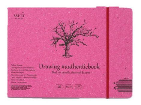 Rajztömb - SMLT Drawing authenticbook - Fehér, 120gr, 32 lapos, 17,6x24,5cm
