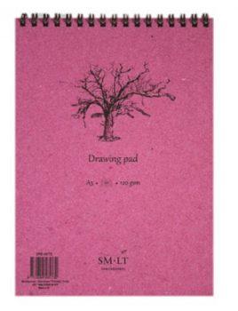 Rajztömb - SMLT Drawing Pad - Fehér, 120 gr, 60 lapos A5