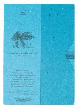 Akvarelltömb - SMLT Watercolor authenticpad in folder, A/4, 280g, 35 lapos