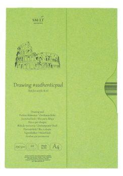 Vázlattömb mappában - SMLT Drawing Pad - Fehér, 290gr, 20 lapos