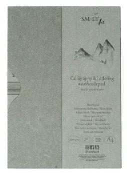 Kalligráfiatömb mappában - SMLT Calligraphy & Lettering Pad, 100g, 50 lapos, A4
