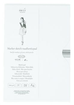Markertömb mappában - SMLT Marker Sketch Pad 100gr, A4