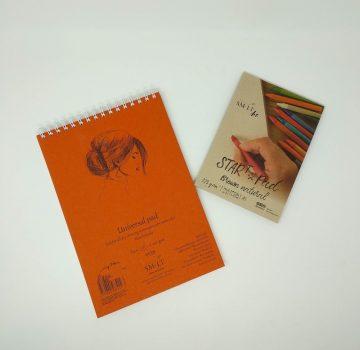 Vázlat- és festőtömb - SMLT Drawing authenticpad, spirálos, mikroperforált - Mixed Media, 200gr, 40