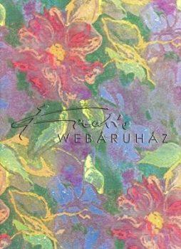 Selyempapír - Virág ezüsttel