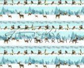 Kartonpapír csomag - Karácsony, Téli álom Havas táj szarvasokkal és erdei állatokkal sorminta