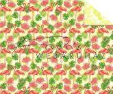 Kartonpapír - Trópusi hangulat, flamingó mintás Karton, 300g, 5lap /csomag