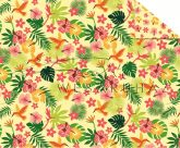 Kartonpapír - Trópusi hangulat, kolibri mintás Karton, 300g, 1 lap