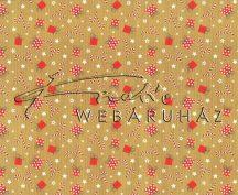 Kartonpapír - Karácsony ünnepe Piros-fehér cukorbot és ajándékdobozok mintás Karton, 1 lap