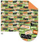 Halloween színes karton - Halloween témájú színes feliratos karton, 300gr, 1 lap