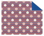 """Kartonpapír - """"Tengerész"""" piros-kék csíkos mintás karton 29,5x20cm, 1 lap"""