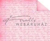 Kartonpapír - Just Married, Rózsaszín, modern feliratos mintás karton, 29,5x20cm, 1 lap