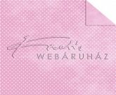 Kartonpapír - Babaváró, rózsaszín alapon, apró fehér pöttyös mintás karton, 1 lap