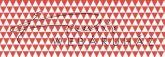 Kartonpapír - piros-fehér, geometrikus háromszögek mintás karton 29,5x20cm, 1 lap